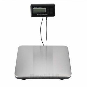 660lbs Lcd Ac Digital Floor Bench Scale Postal Platform Shipping 300kg Weigh Usa