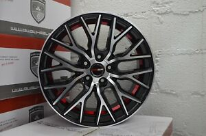 4 Gwg Wheels Flare 18 Inch Gloss Black Red Rims Fits Infiniti Q50 2014 2018