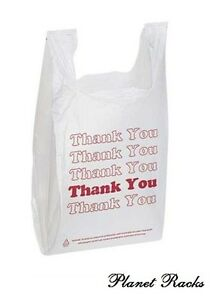 5 000 Planet Racks Plastic T Shirt Supermarket Grocery Thank You Shopping Bags