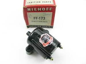 Nos Vintage Niehoff Ff 173 Ignition Coil 41 48 Ford Deluxe Super Deluxe 6 Volt