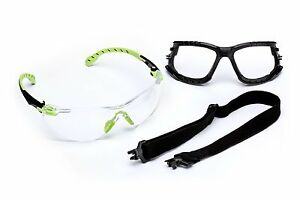 3m Solus 1000 series Safety Glasses Kit With Foam Gasket And Elastic Strap