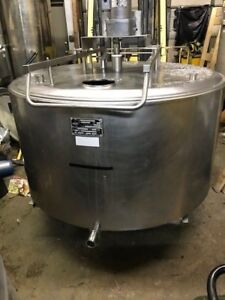300 Gallon Jacketed Agitated Stainless Steel Tank By Japy
