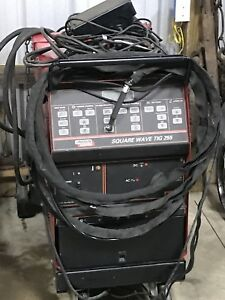 Lincoln Electric Square Wave Tig 255 Ac dc Welding Power Source W cart