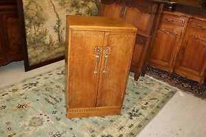 Antique Art Deco 3 Shelf Baby Living Room Cabinet Small Wardrobe Furniture