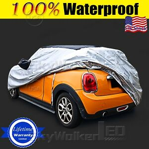Car Cover Fit Short Antenna Outdoor Waterproof Rain Snow Dust For Mini Cooper