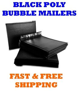 00 5x10 Black Poly Bubble Mailers Shipping Mailing Padded Envelopes Bags