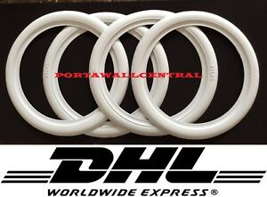 Hot Rod 15 Rim New Rubber White Wall Tire Trims Port a wall set Vw Bug Beetle
