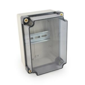 Ekm Outdoor water tight Electronic Enclosure Clear Plastic Meter Mount Din 19