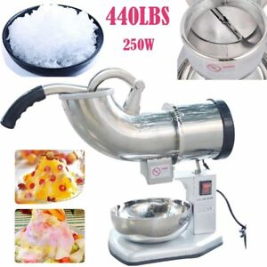 Commercial Electric 440lbs Snow Cone Ice Shaver Maker Machine Ice Crusher Us Ex