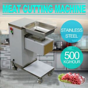 us Ship meat Cutting Machine meat Cutter Slicer 500kg Output w 3mm Blade Fda