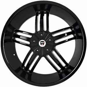 4 Gwg Wheels 24 Inch Black Spade Rims Fits Dodge Charger R T 2005 2018