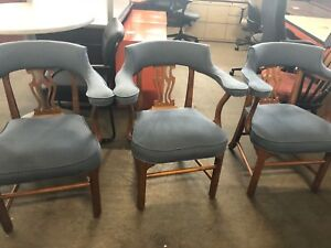 Lot Of 3 Vintage old Style Traditional Guest Chairs
