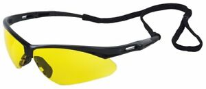 Erb 15328 Octane Safety Glasses With Amber Lens Black Frame 12 pack