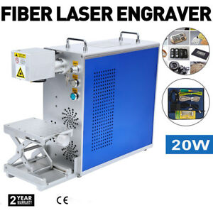 Portable 30w Fiber Laser Marking Machine Laser Engraver Printer Metal Engraving