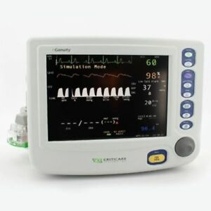 Criticare Ngenuity 8100ep1 Dox Spo2 Nibp Ecg Hr Temp Resp Co2 Printer