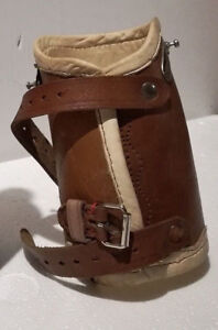 Antique German Leather Prothese Medical Arm Or Leg Steampunk Deco