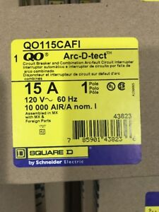 New Lot Of 10 Circuit Breaker Square D Qo115cafi 15 Amp Combination arc fault