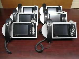 Lot Of 6 Shoretel 655 Voip Touchscreen Phone With Stand And Headset