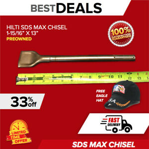 Hilti Wide Flat Chisel Sds Max 1 15 16 X 13 Preowned Free Hat Fast Ship