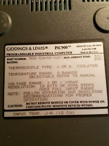 Giddings Lewis Thermocouple Type J Or K Card 502 03658 02r1 Input Pic900