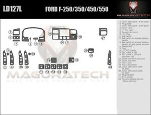 Fits Ford F250 F350 Superduty 2005 2007 W Manual Ac Basic Wood Dash Trim Kit