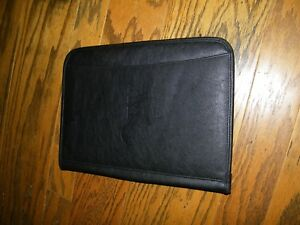 Leeds Leather Portfolio Full Size With Pad Txu Logo On Front
