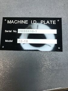 Custom Engraved Machine Equipment Plate Tag Serial Model Id Number High Quality