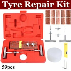 59pcs Tire Repair Kit Diy Flat Tire Repair Car Truck Motorcycle Home Plug Patch