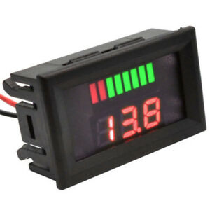 Dc 12v 24v Led Panel Digital Voltage Volt Meter Display Voltmeter Motorcycle Car