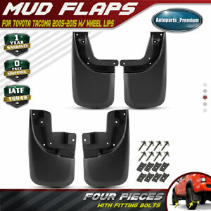 4pcs Front Rear Splash Guards Mud Flaps For Toyota Tacoma 05 15 W Fender Flares