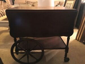 Imperial Drop Leaf Mohoghany Tea Cart