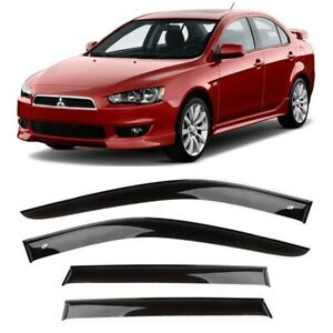 Me40707 Window Visors Guard Vent Wide Deflectors For Mitsubishi Lancer 2007 2017
