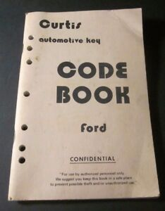 Curtis Automotive Key Code Book Ford 1981