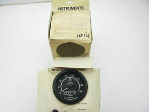 New S s White Hg101 0 3500 Rpm Electric Tachometer Gauge With Hour Meter