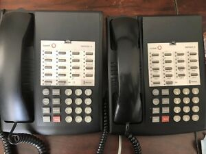 Pair Of Avaya Lucent Partner 18 Phone Black Great Condition