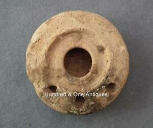 Ancient Roman Terracotta Oil Lamp With Three Flames Nozzles 1st 4th Century Ad