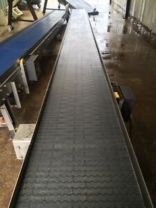 Stainless Steel Conveyor 23 Long With Gear Drive Vfd