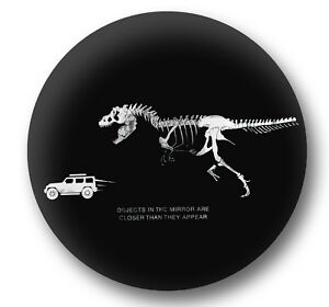 Tire Cover Pu Leather Jurassic T Rex Chasing Jeep Fits 27 33 Inch Diameter