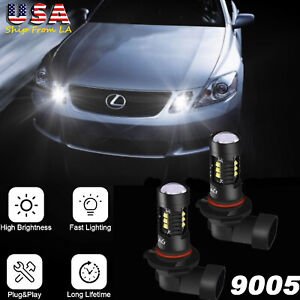 2x 6000k Front Led Daytime Running Light For Lexus Gs350 Is250 Ls430 Ls460 Es350