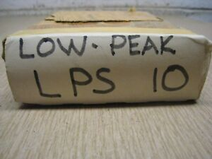 Box Of 10 New 10 Amp Fuse Lps10 Low Peak Fuses Free Shipping