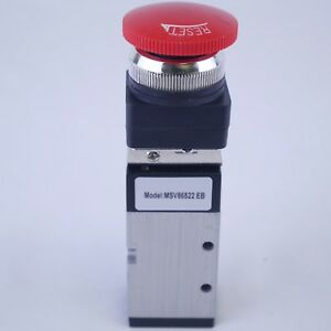 5 2 Way Pneumatic Valve With Emergency Push Button With Lock 1 4 Npt Msv86522eb