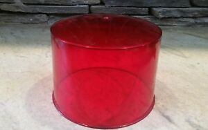 Vintage Grote 32 Red Beacon Lens Sae w3 69 Emergency Light Police Fire