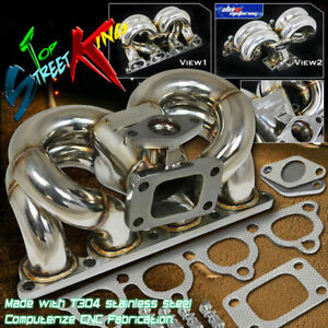 For 88 00 Civic Crx Del Sol D15 D16 Sohc Ram Horn Turbo Turbocharger Manifold