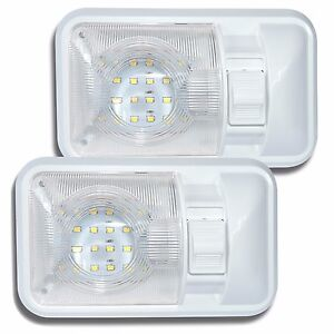 2 Pack 12v Led Rv Ceiling Dome Light Rv Interior Lighting For Trailer Camper