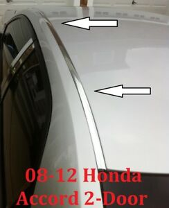For 2008 2012 Honda Accord Chrome Roof Trim Molding Kit 2 Door Coupe