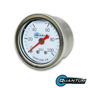 Quantum Efi Liquid Filled Fuel Pressure Gauge 0 100psi 1 8 Npt 1 5 38mm