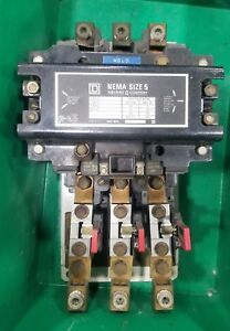 Square D Size 5 Starter Contactor 200 Hp 3840sr