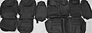 Fits 2016 2017 Honda Accord Ex Sport Black Leather Upholstery Seat Cover Set New