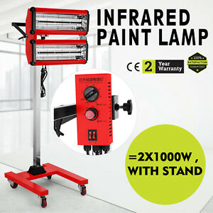 2x1000w Spray baking Infrared Paint Curing Lamp 602 Heating New Booth Durable