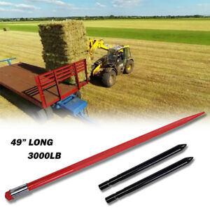 49 3000 Lb Hay Spear With Stabilizer Spears Bale Spike Fork Tine